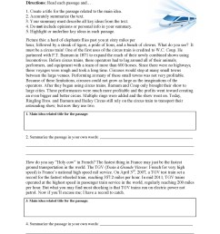 Summary Worksheets 5th Grade Main Idea Worksheets – Educational Template  Design [ 2453 x 1853 Pixel ]