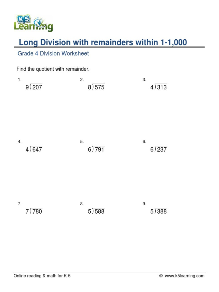 hight resolution of Long Division Worksheets Grade 5   Educational Template Design