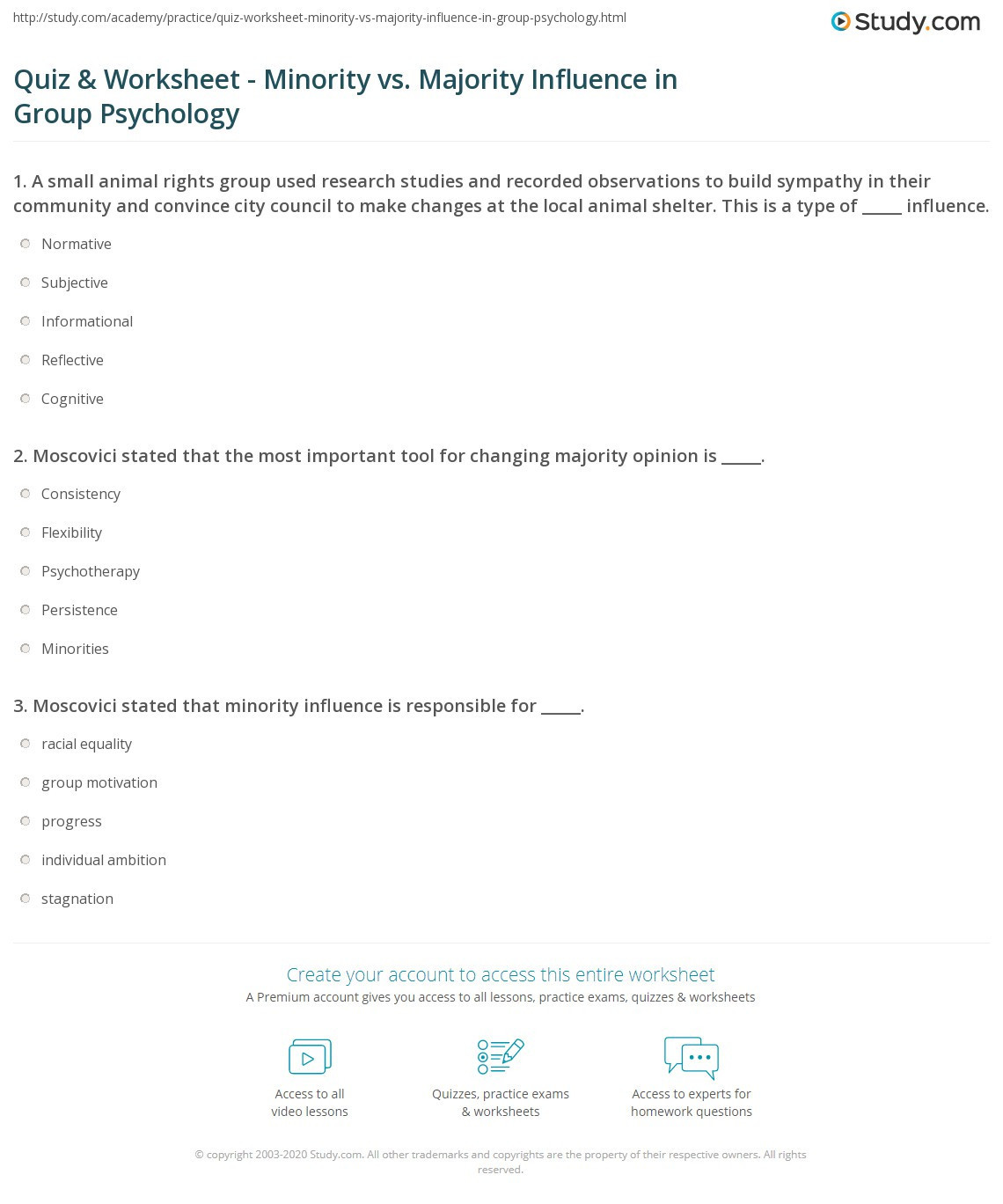 Psychology Worksheets For Highschool Students