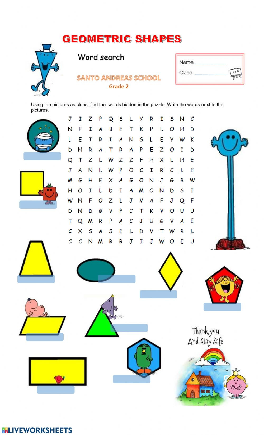 hight resolution of Shapes Worksheets for Grade 2 Geometric Shapes Interactive Worksheet    Educational Template Design