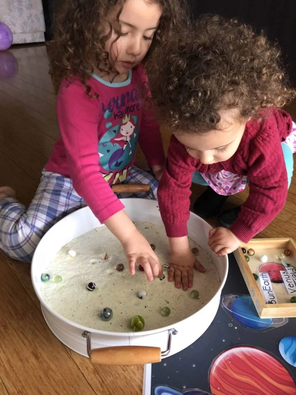 Moon dust sensory play toddlers