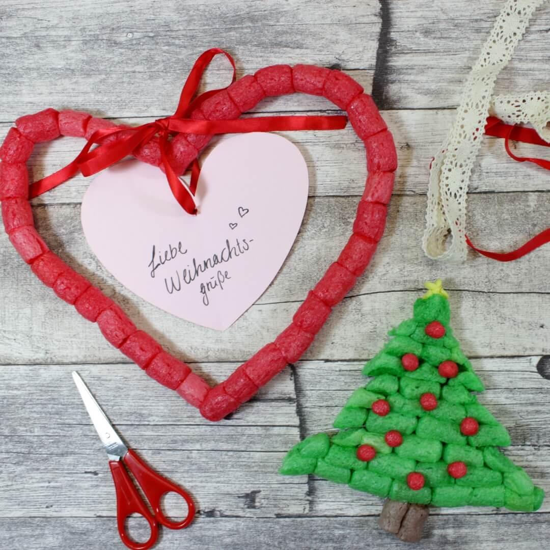 Weihnachtskarten Basteln Mit Kleinkindern.Weihnachtskarte Zum Basteln