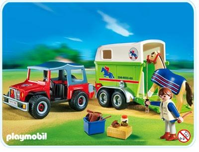 Gelndewagen mit Pferdeanhnger  4189A  PLAYMOBIL Deutschland