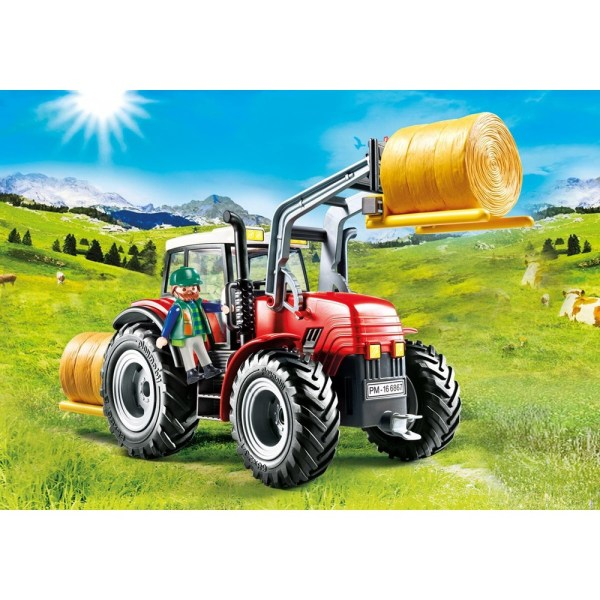 6867. Large Tractor With Accessories - Playmobil