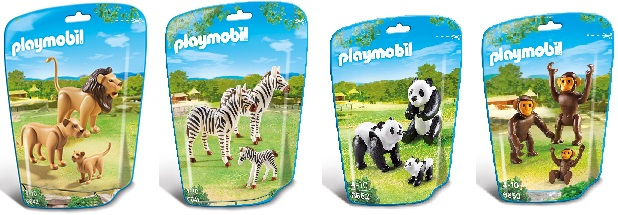 Playmobil animals zoo sets