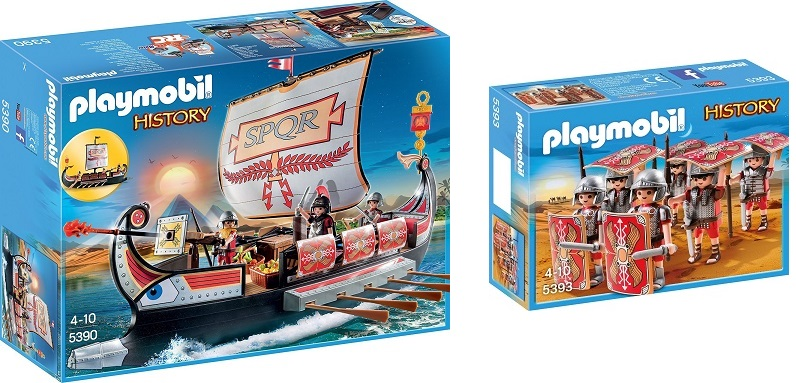 Playmobil roman ship and roman Squad