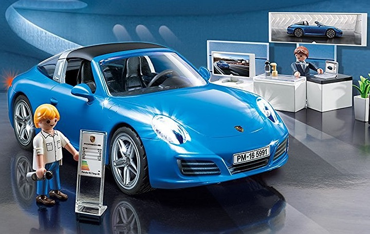 playmobil blue porsche euro the deal hunter for playmobil toys. Black Bedroom Furniture Sets. Home Design Ideas