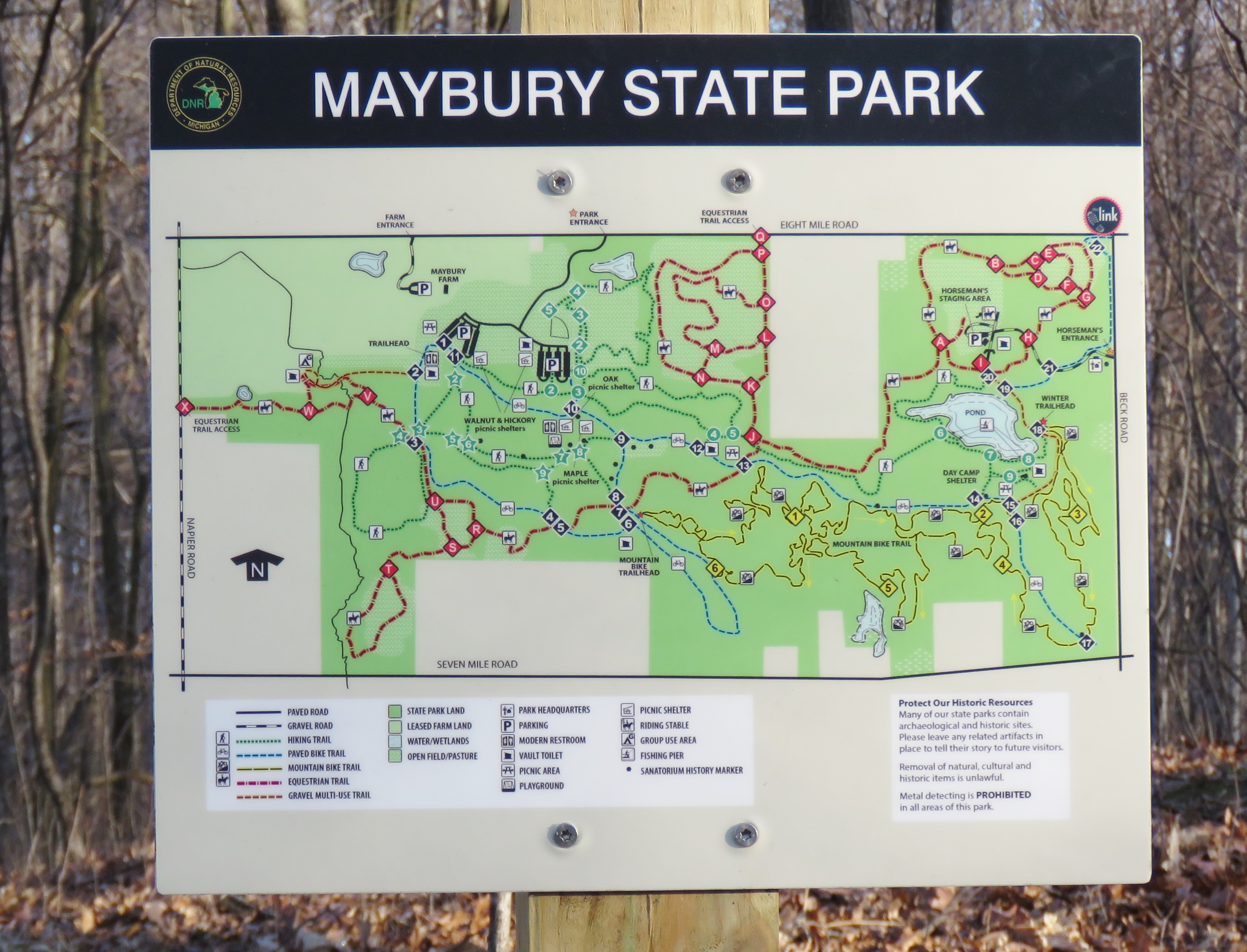 Maybury State Park A Trail Tale Of Two County
