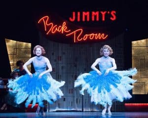 "Jenny Piersol as Judy Haynes and Ann Michels as Betty Haynes, performing ""Sisters"" in the Ordway Performing Arts Center's production of Irving Berlin's White Christmas, Dec. 2016. Photo by Rich Ryan Photography"