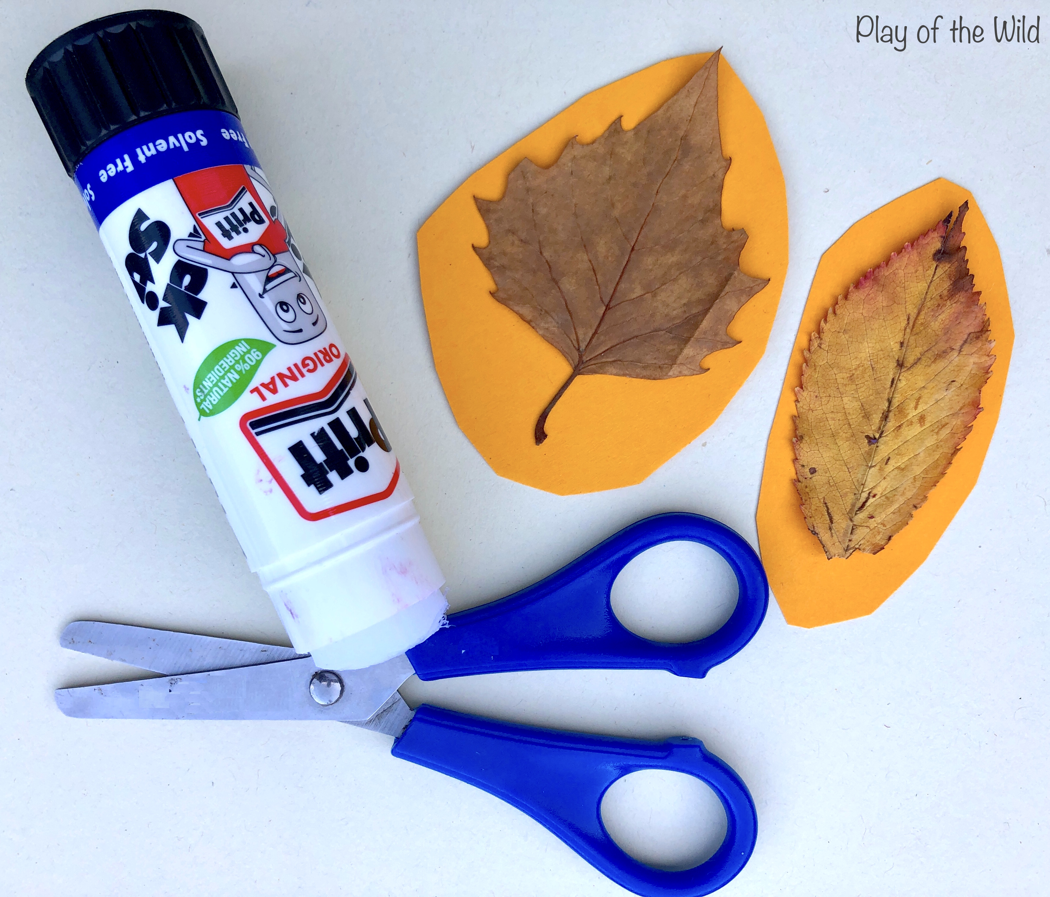 How to make a leaf mobile with children.
