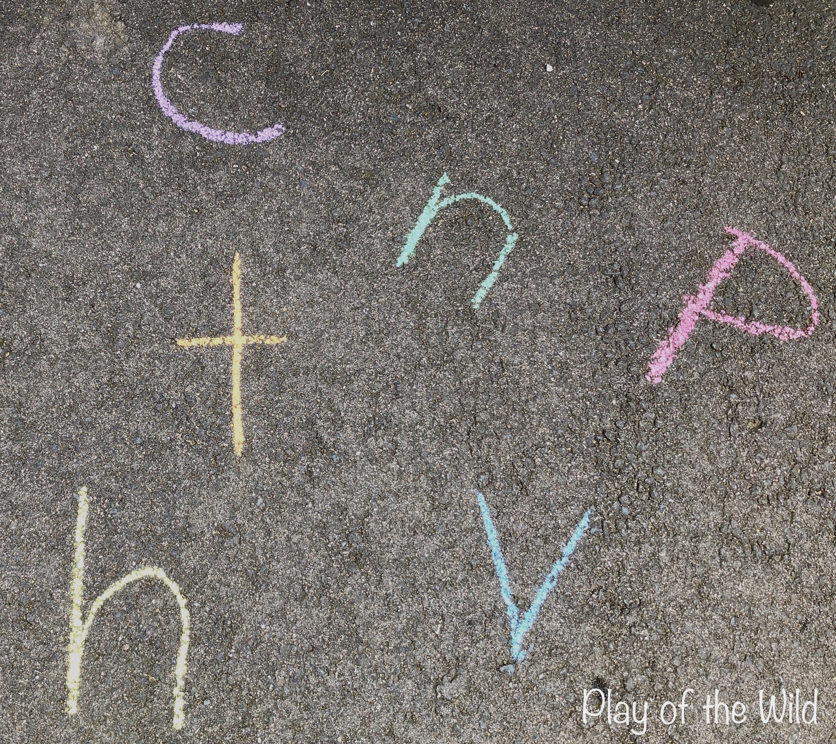 Chalk letters for EYFS
