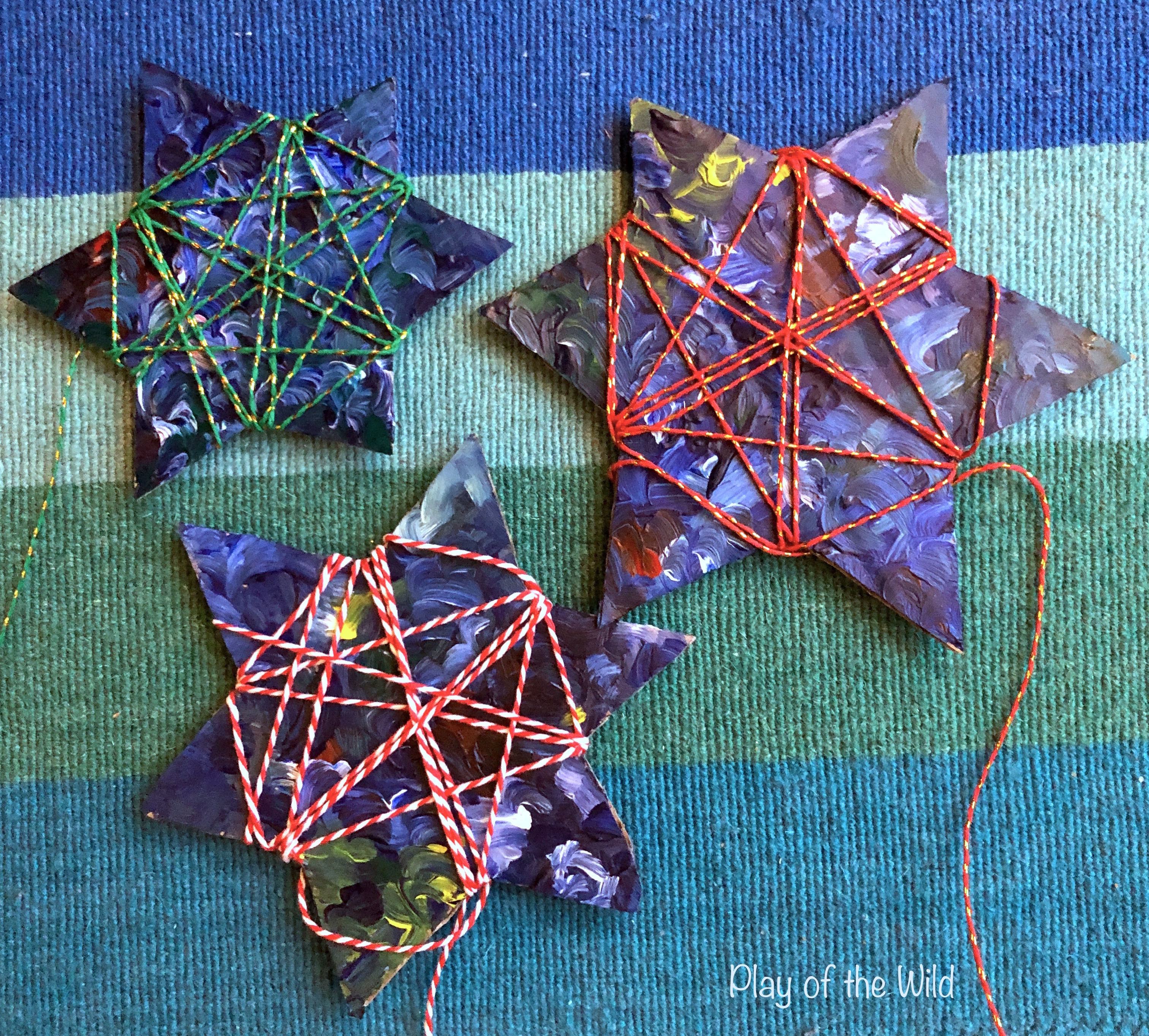 Easy Fine Motor Activities for Christmas & Hannukkah, wrapping stars.
