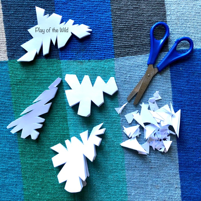 cutting out snowflakes. Christmas Fine Motor Activities