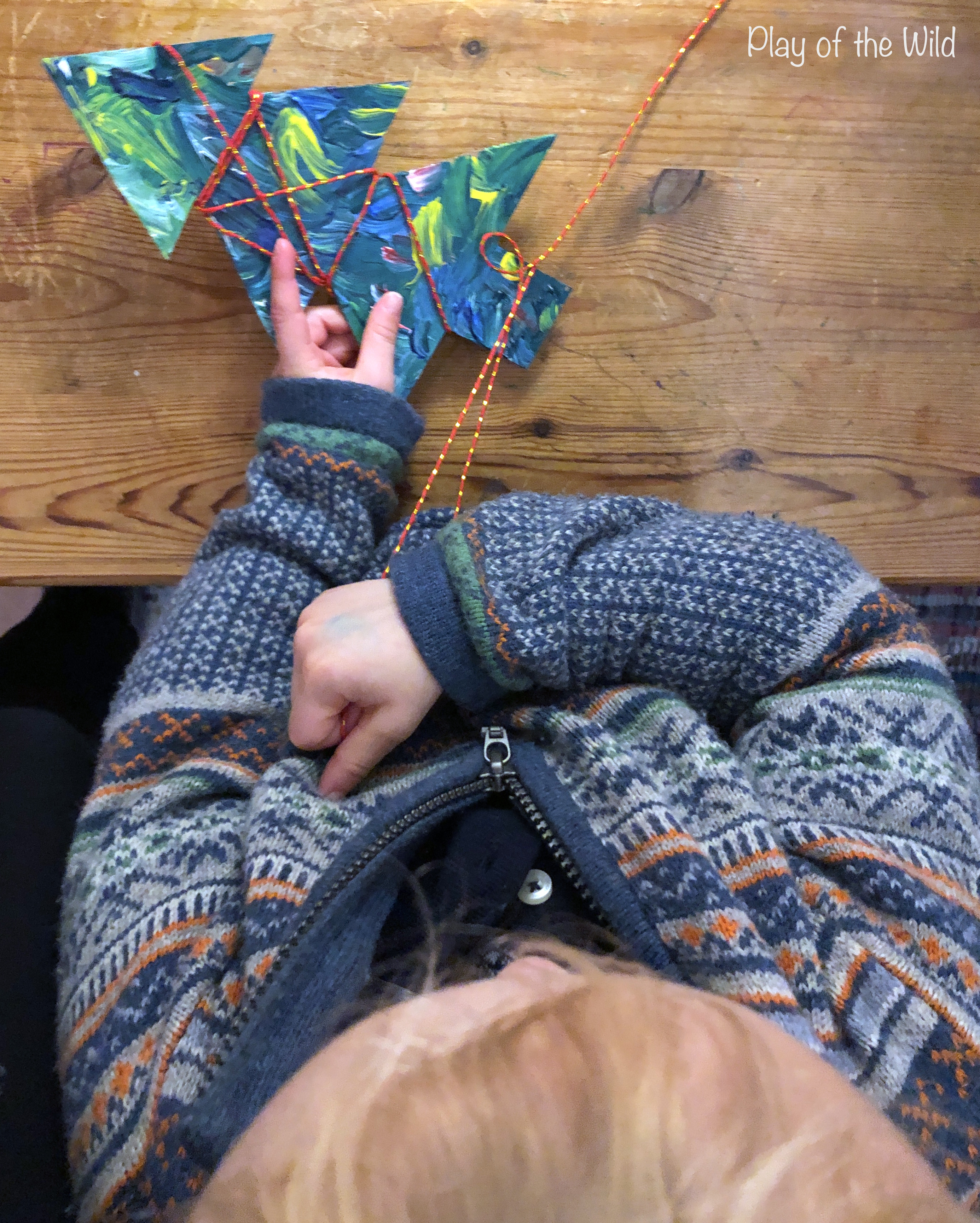 Easy Fine Motor Activities for Christmas & Hannukkah. christmas tree fine motor wrapping.