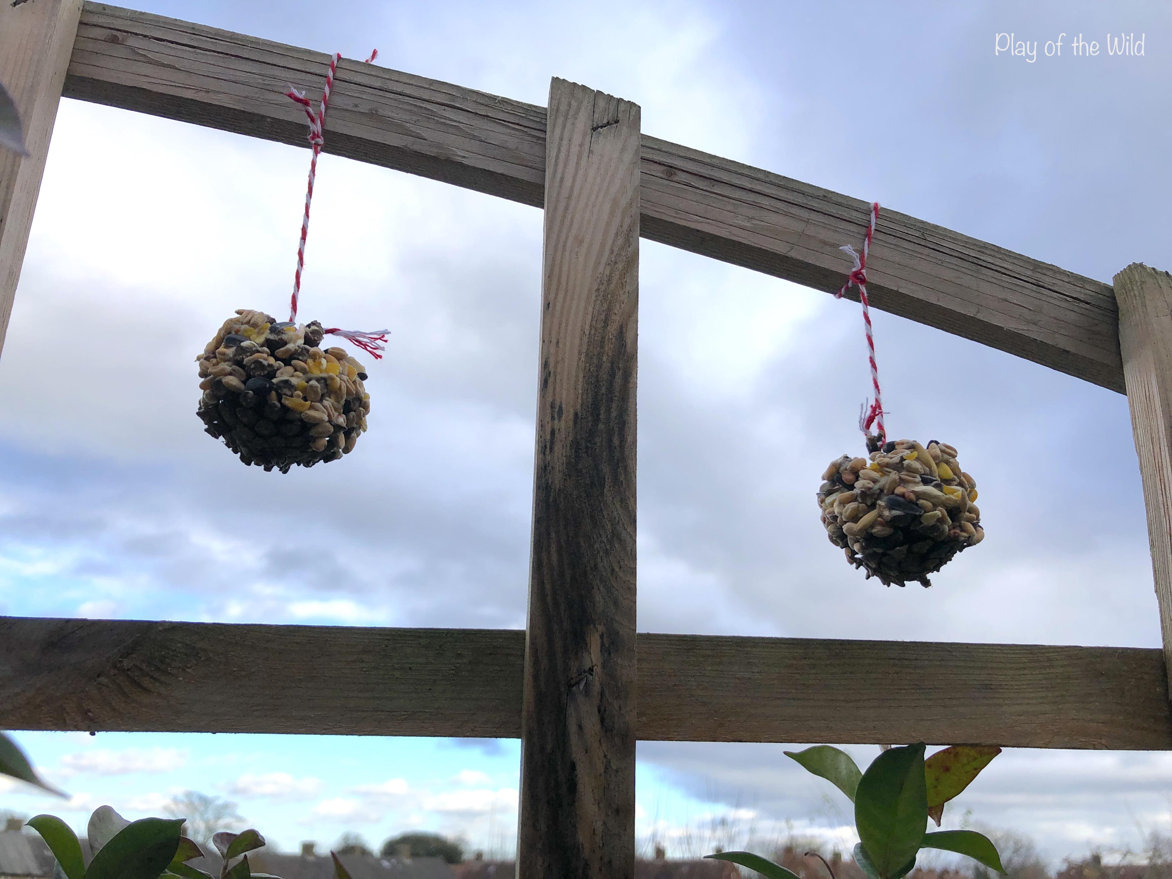 homemade bird feeders with children