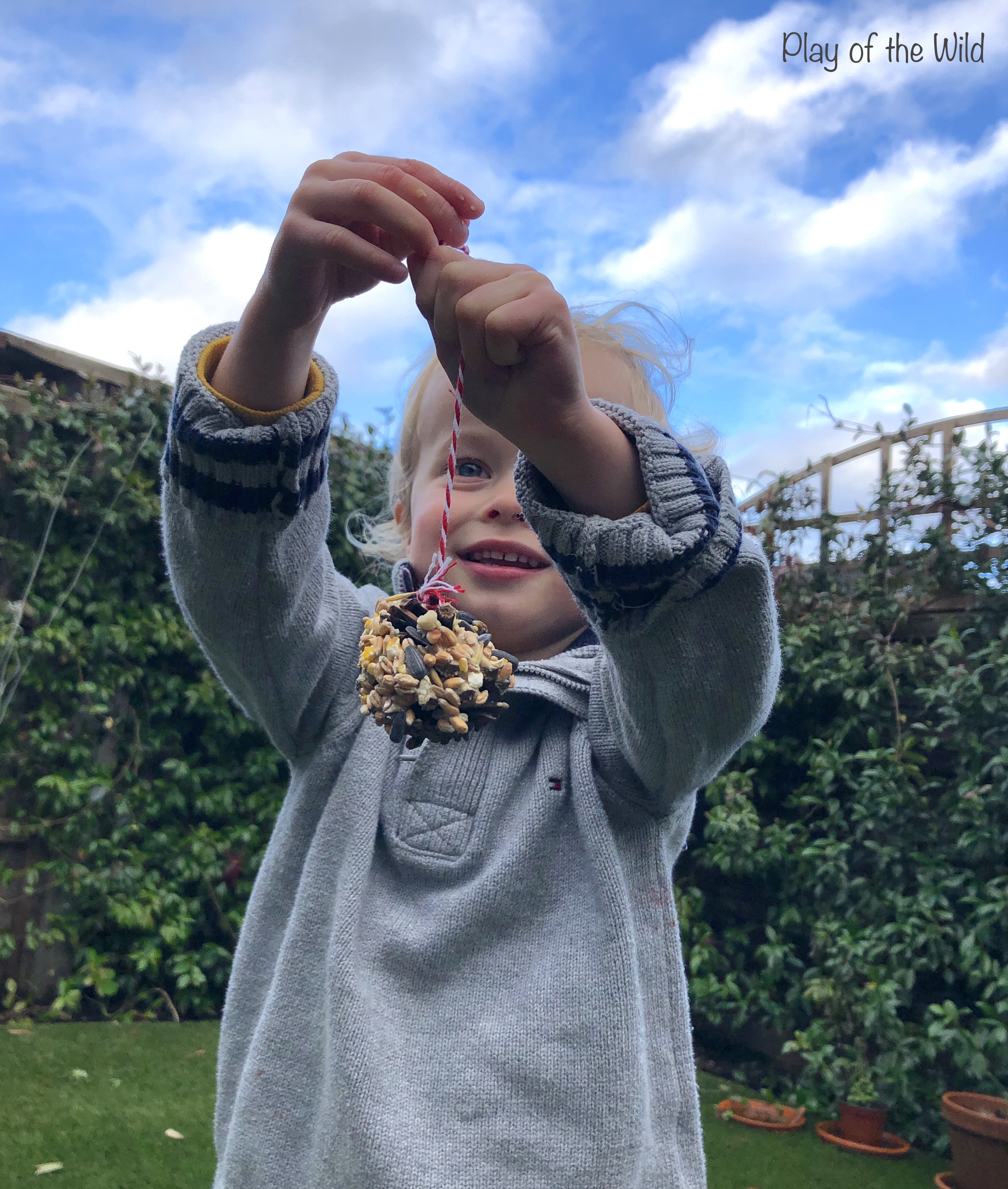 Ways Kids Can Help the Environment. pinecone birdfeeder.