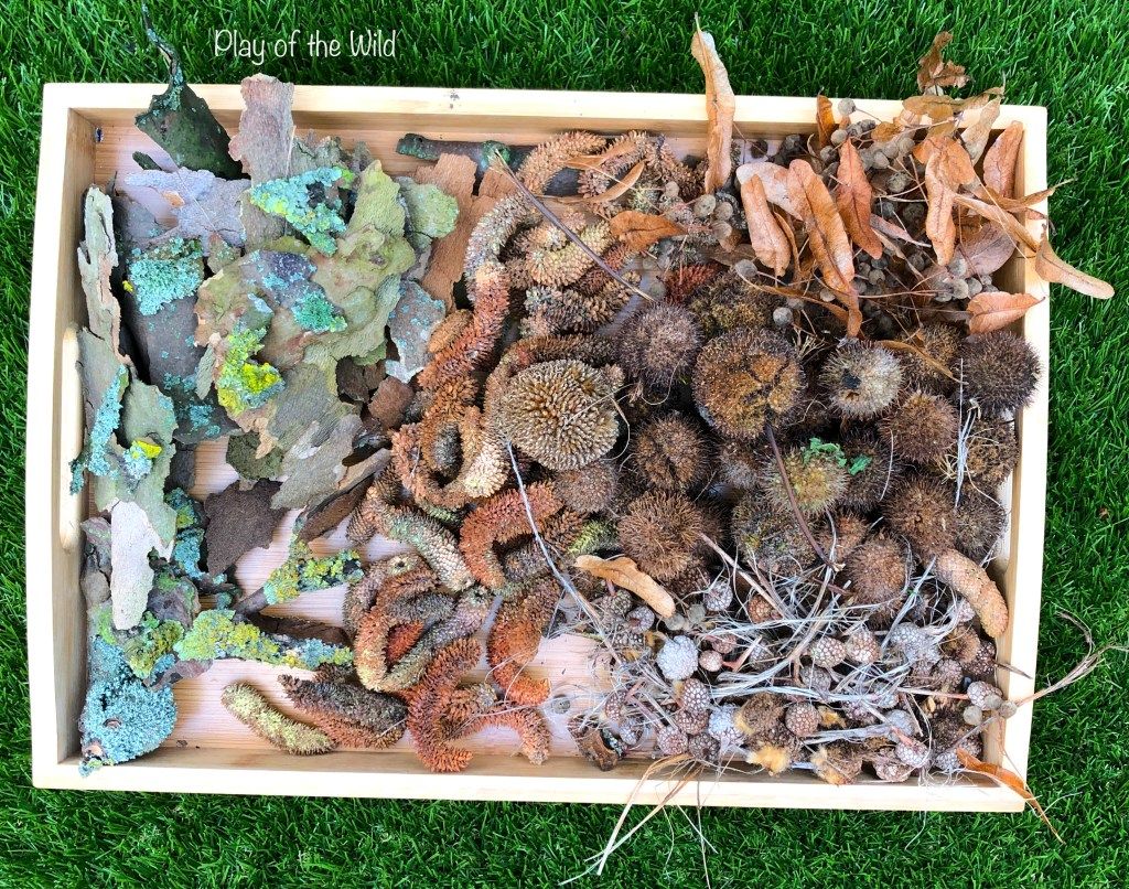 natural loose parts play. found objects for eyfs