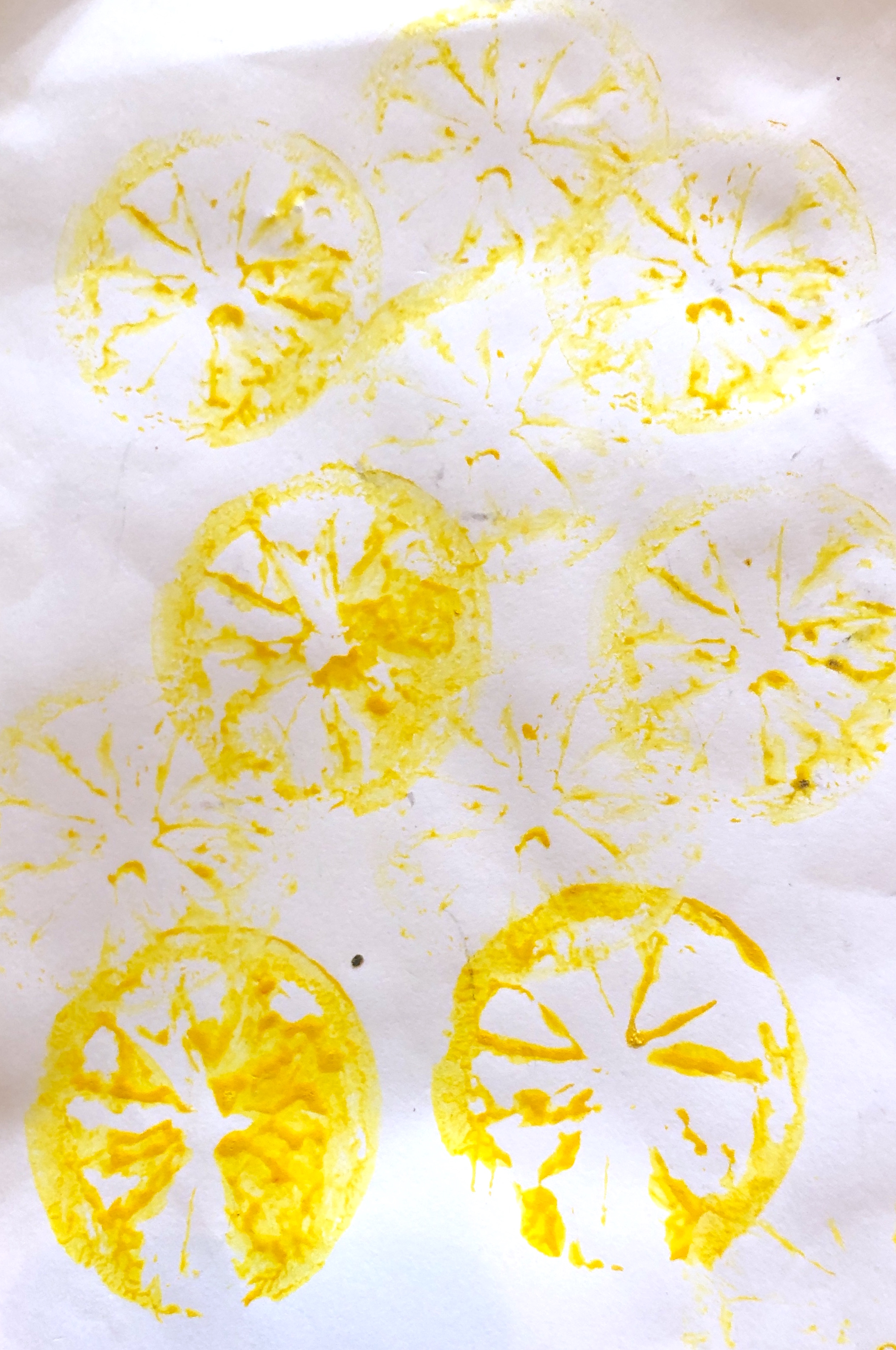 EYFS Mark Making Ideas & Activities that Help Children. fruit printing.