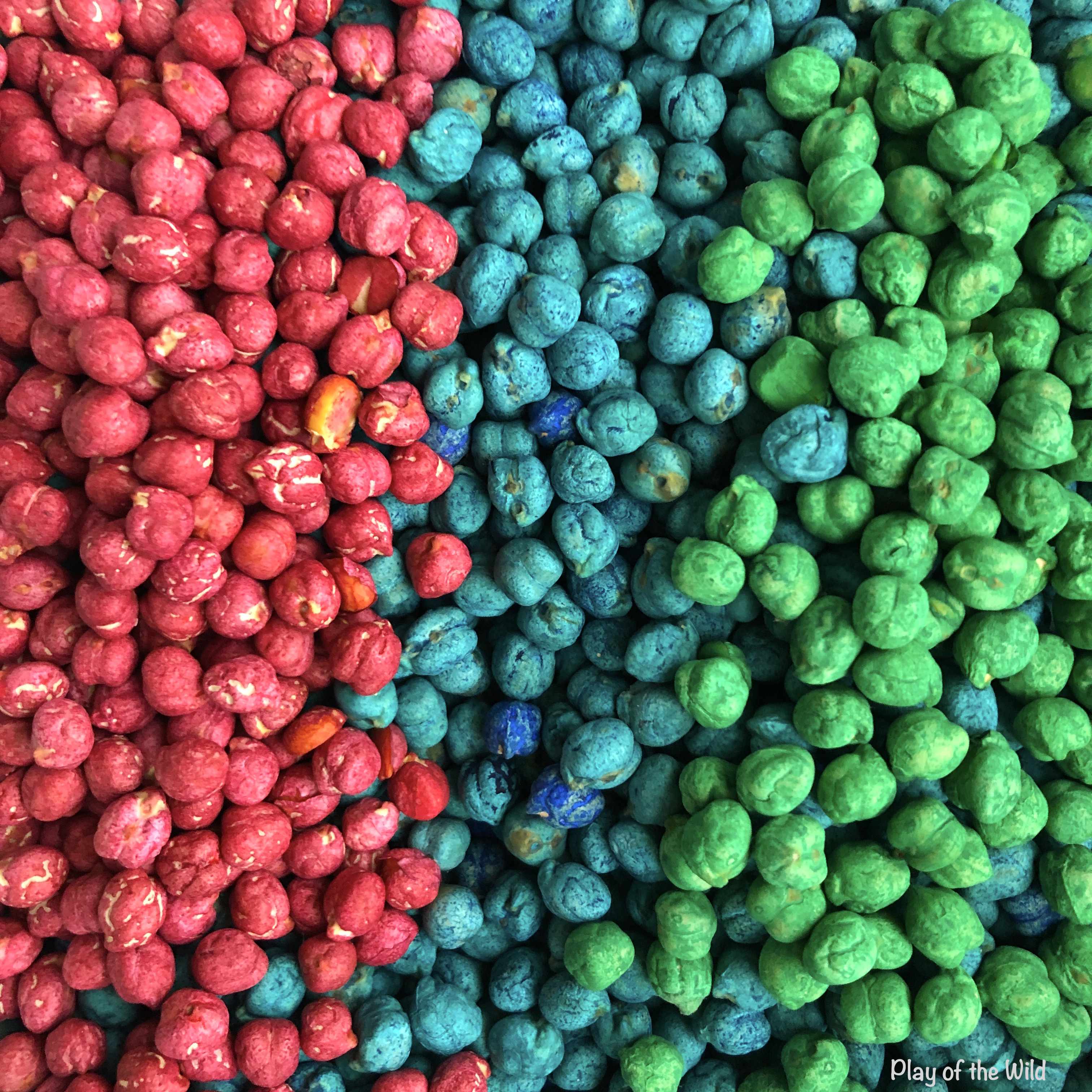 How to Dye Chickpeas with Food Coloring or Watercolors