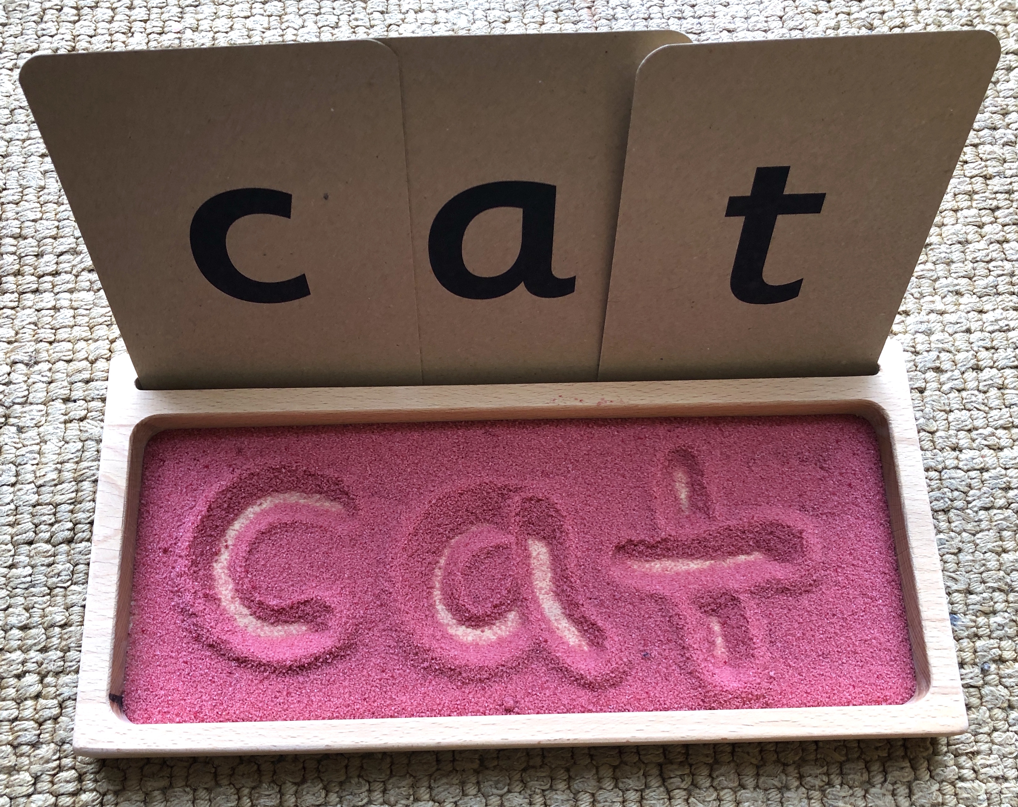 How to make Colorful Salt Writing Tray for Letter Writing