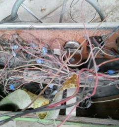 that is the back side of the console yikes right most of that rat s nest went toward the rear of the boat i assume to the battery  [ 2560 x 1920 Pixel ]