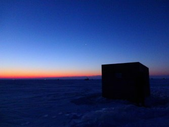 Pre-dawn on Saturday at -10F