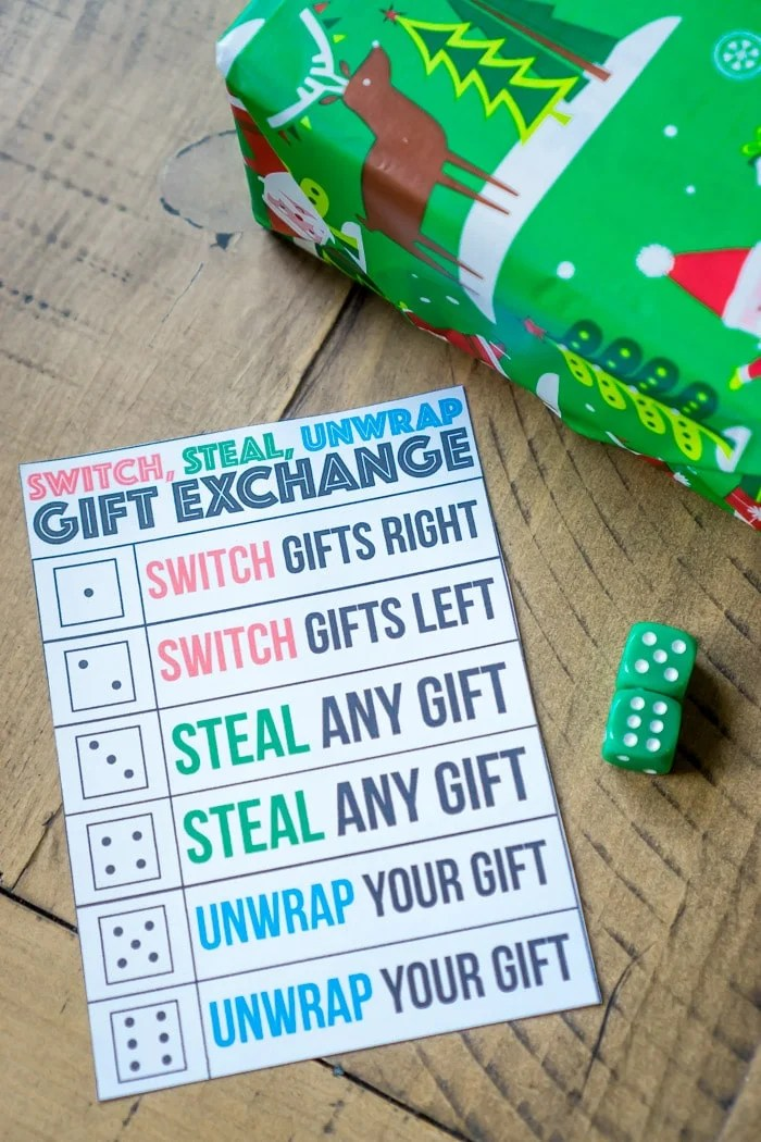 White Elephant Dice Game Rules : white, elephant, rules, Switch, Steal, Unwrap, Exchange, Party