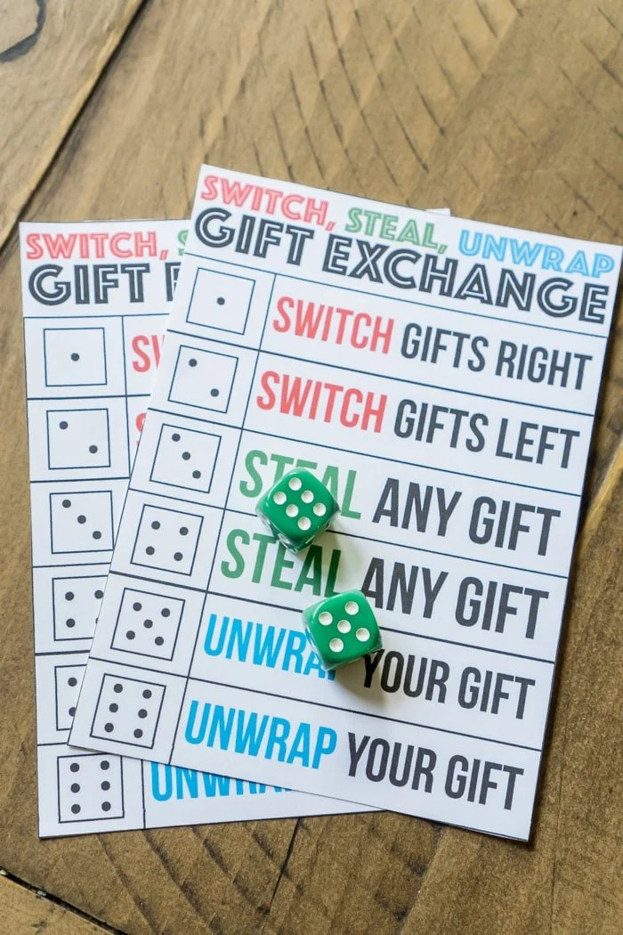 Roll The Dice Christmas Gift Exchange Game - Fine Fit Life