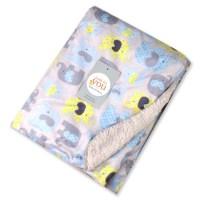 Gray Elephant Baby Fleece Blanket  Playpen Baby