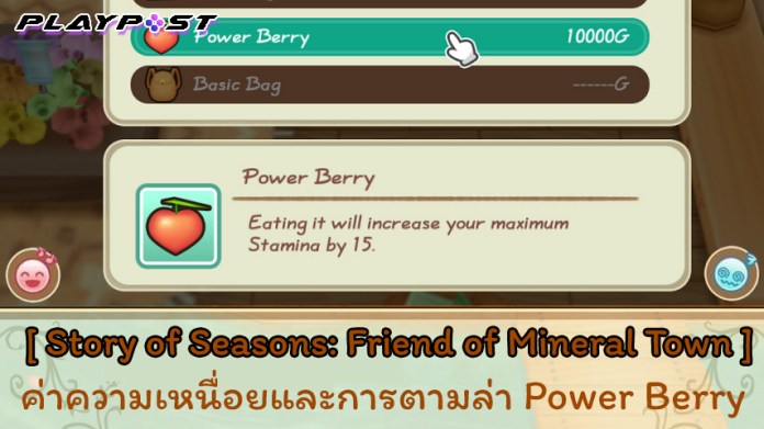 SoS Friend of Mineral Town Power Berry cover playpost