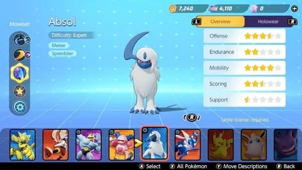 Pokemon Unite Absol