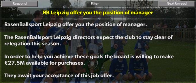 RB Leipzig Job Offer