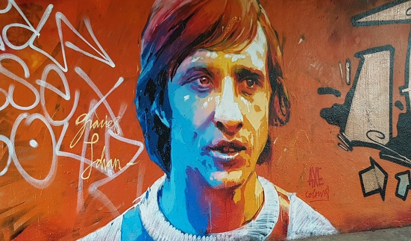 Johan Cruijff graffiti