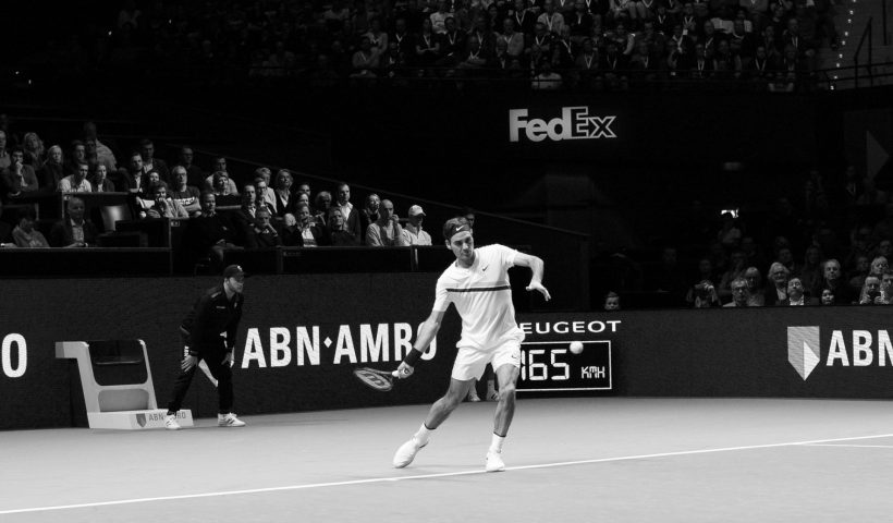 Roger Federer at the ATP Tournament in Rotterdam, 2018