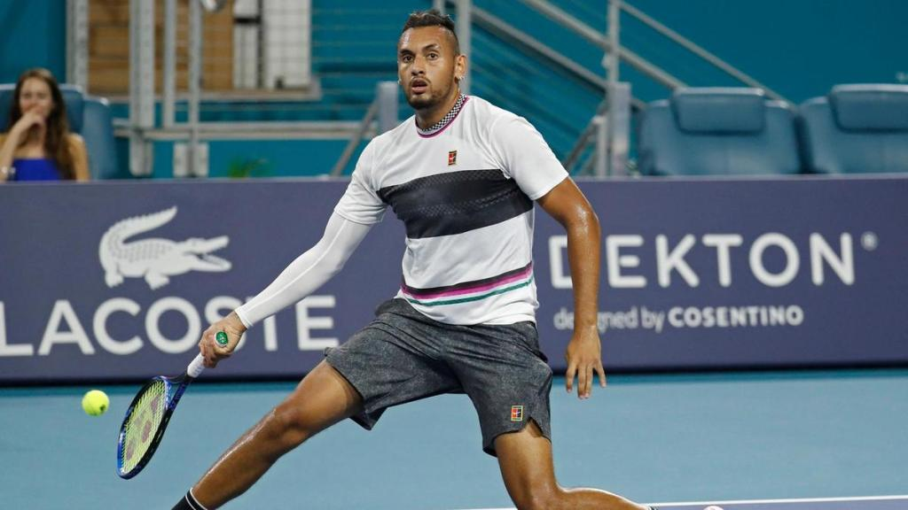 A no-look volley from Nick Kyrgios