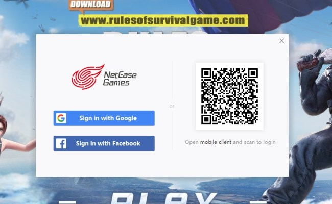 Rules Of Survival Pc Now Uses Facebook And Google Login