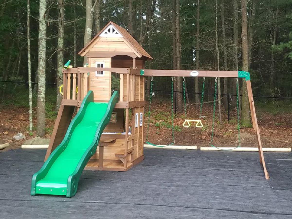Backyard Discovery Mount Triumph Swing Set Installed