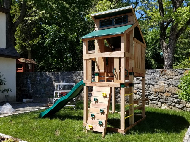 Swing-N-Slide Hideaway Playset Assembly