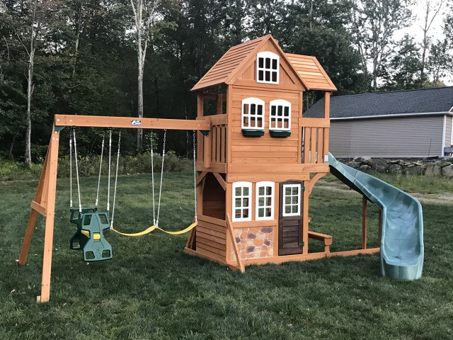Cedar Summit Summerstone Playset Assembly in Ellington, CT