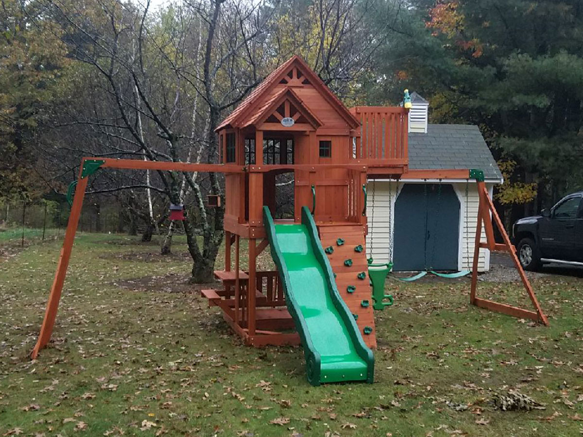 Backyard Discovery SkyFort II Playset Assembly in Bolton, MA