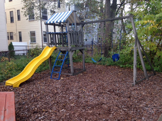 Remove Old Playset Swing Set Belmont MA
