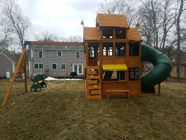 Wooden Swing Set Assembly Swing Set Installation Ma Ct