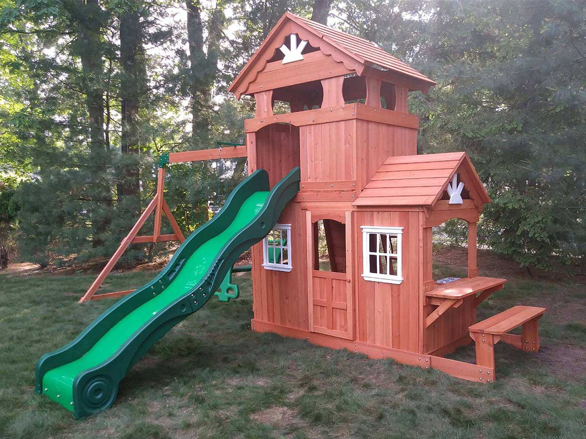 We Assembled and Installed this Backyard Discovery Shenandoah Playset in  Burlington, MA. - New England Playset Assembly, Burlington, MA – Playset Installation