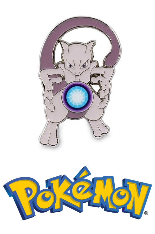 Mewtwo OFFICIAL Metal Pokemon Pin Badge Hidden Fates