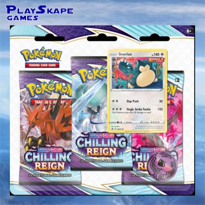 Snorlax-Chilling-Reign-Promo-Triple-Blister-Booster-Pack-Promo-SWSH119-Holo-Cards-Pokemon-TCG