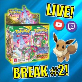 Evolving Skies Box Break TCG Pokemon Cards