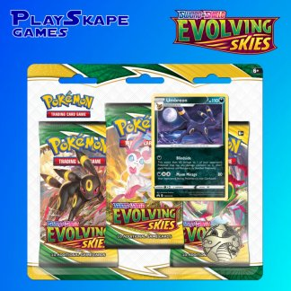 Evolving-Skies-Sword-And-Shield-Pokemon-TCG-SWSH7-Cards-3-Pack-Booster-Blister-Umbreon-Promo-Triple