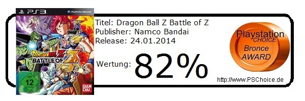 Dragon Ball Z Battle of Z - Die Wertung von Playstation Choice