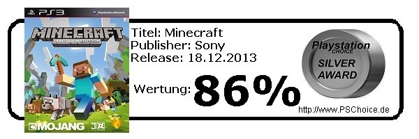 Minecraft - Die Wertung von Playstation Choice