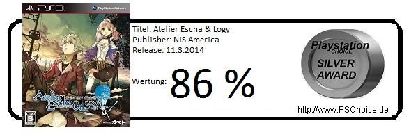 Atelier Escha & Logy - Die Wertung von Playstation Choice